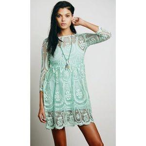 FREE PEOPLE Teardrop Pixie Dress in Mint Small